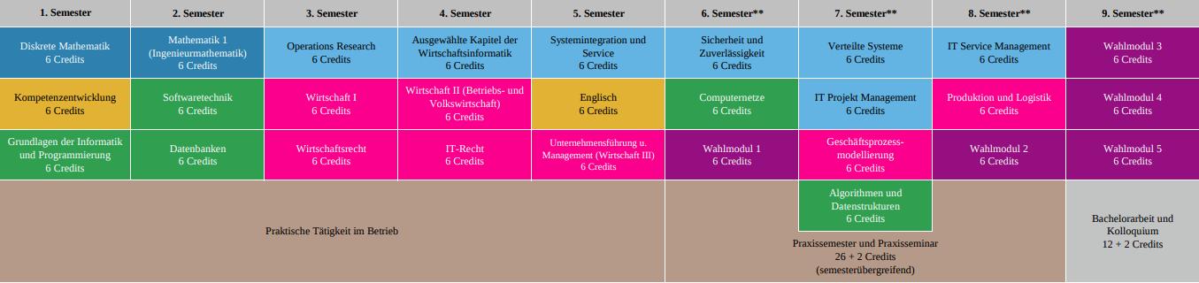 Wirtschaftsinformatik WS1718 dual - praxisintegrierend